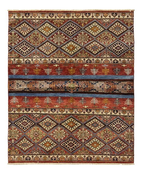 "Timeless Rug Designs CLOSEOUT! One of a Kind OOAK1143 Caramel 4'3"" x 5'10"" Area Rug"