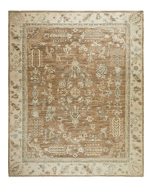 "Timeless Rug Designs One of a Kind OOAK2361 Cocoa 7'10"" x 10'1"" Area Rug"