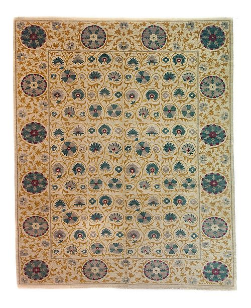 "Timeless Rug Designs CLOSEOUT! One of a Kind OOAK3986 Bone 10'3"" x 14'7"" Area Rug"