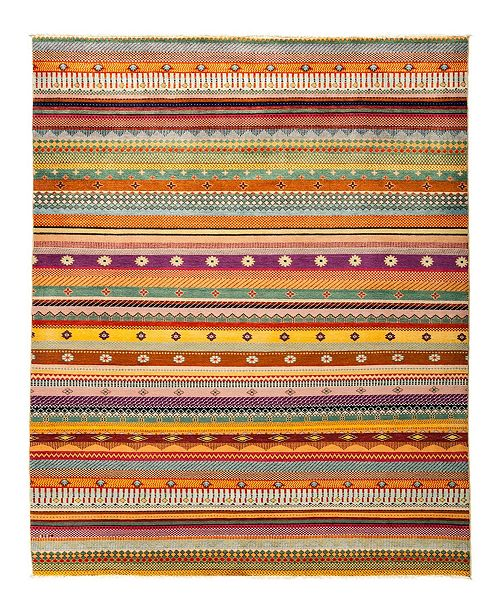 """Timeless Rug Designs CLOSEOUT! One of a Kind OOAK2833 Caramel 6'3"""" x 9' Area Rug"""