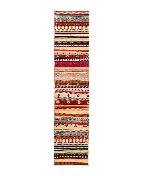 "Timeless Rug Designs CLOSEOUT! One of a Kind OOAK2822 Caramel 2' x 8'10"" Runner Rug"