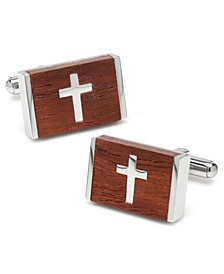 Ox Bull & Trading Co Wood Cross Cufflinks