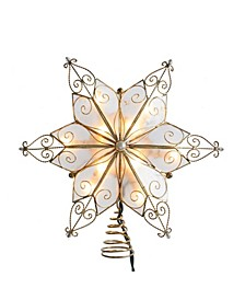 10-Light 6-Point Capiz Star Treetop