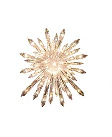 UL 30-Light Crystal Snowflake Treetop