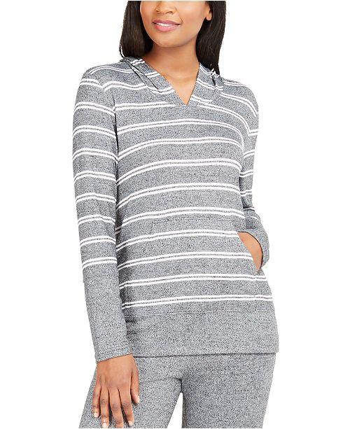 Alfani Striped Supersoft Pajama Hoodie, Created for Macy's