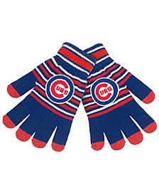 Chicago Cubs Acrylic Stripe Knit Glove