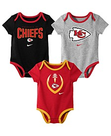 Baby Kansas City Chiefs Icon 3 Pack Bodysuit Set