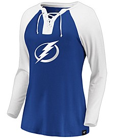 Women's Tampa Bay Lightning Lace Up Long Sleeve T-Shirt