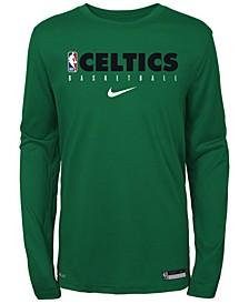 Big Boys Boston Celtics Practice Long Sleeve T-Shirt