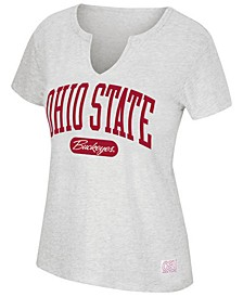 Women's Ohio State Buckeyes Notch Neck T-Shirt