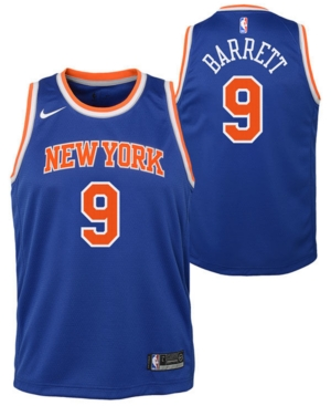Nike Big Boys Rj Barrett New York Knicks Icon Swingman Jersey