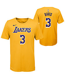 Nike Big Boys Anthony Davis Los Angeles Lakers Icon Name and Number T-Shirt