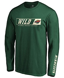 Men's Minnesota Wild Chase Down Long Sleeve T-Shirt