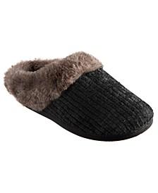 Isotoner Chenille Quinn Hoodback Slippers, Online Only