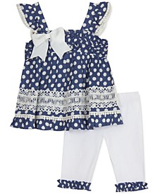 Baby Girls 2-Pc. Dot-Print Top & Leggings Set