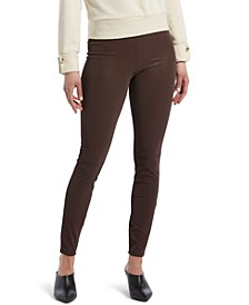 Textured Faux-Leather Leggings