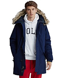 Men's Faux-Fur-Trim Down Parka