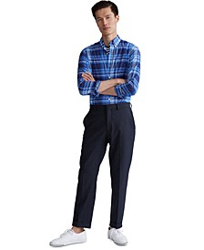 Men's Slim Fit Stretch Poplin Button-Down Shirt