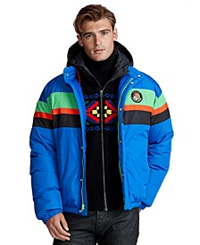 Men's Striped Down Jacket