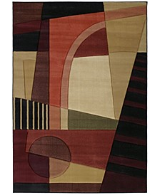 "Contours Urban Angles 510 20745 69 Green 5'3"" x 7'6"" Area Rug"