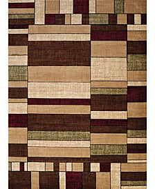 """Contours Frilly 702 33817 35C Neutral 2'7"""" x 4'2"""" Area Rug"""