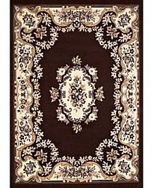 """Cafe Classic Aubusson 950 10855 24 Brown 1'10"""" x 3' Area Rug"""