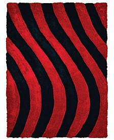 "Finesse Streamer 2100 21630 912 Red 7'10"" x 10'6"" Area Rug"