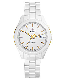 Rado Women's Swiss  Automatic Hyperchrome White High-Tech Ceramic Bracelet Watch 36mm R32257012