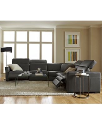 Nicolo Leather Power Reclining Sectional Sofa Collection with Articulating Headrests Created for Macy\u0027s  sc 1 st  Macy\u0027s & Nicolo Leather Power Reclining Sectional Sofa Collection with ... islam-shia.org