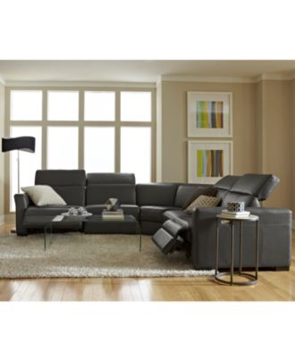nicole leather power reclining sectional sofa collection with