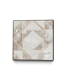 Geometric Veil II Art Block Framed Canvas