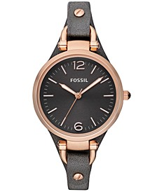 Women's Georgia Ash Gray Leather Strap Watch 32mm ES3077