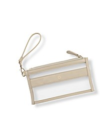 Personalized Vegan Leather Clear Stadium Clutch