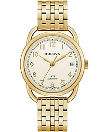 LIMITED EDITION Women's Swiss Automatic Joseph Bulova Gold-Tone Stainless Steel Bracelet Watch 34.5mm