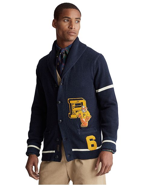 Polo Ralph Lauren Men's Varsity-Inspired Cardigan