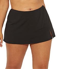 Plus Size Slit Swim Skirt