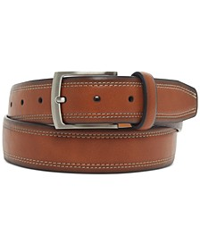 Men's Faux-Leather Casual Belt, Created For Macy's