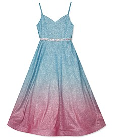 Big Girls Metallic Ombré Gown