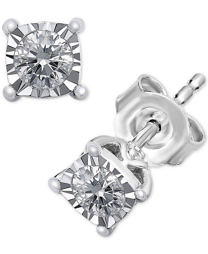 TruMiracle - Diamond Stud Earrings (1/3 ct. t.w.) in 14k White Gold