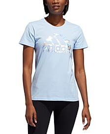 Women's Cotton Printed-Logo T-Shirt