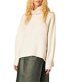Nian High-Low Turtleneck Sweater