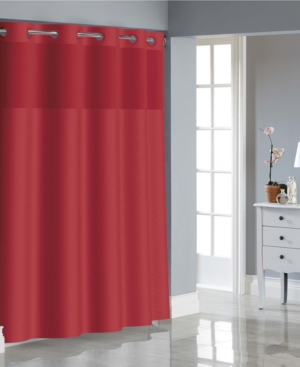 Hookless Basketweave Shower Curtain with Peva Liner Bedding