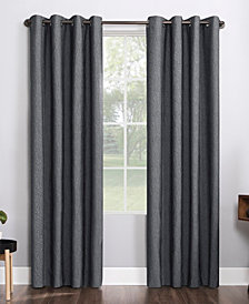 Sun Zero Noir Textured Thermal Blackout Curtain Collection