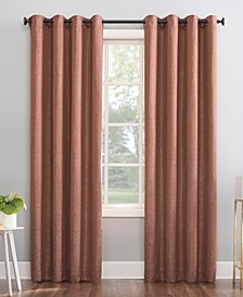 "Peyton 52"" x 84"" Distressed Chevron Thermal Extreme Blackout Curtain Panel"