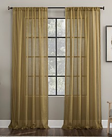 Embroidered Border Sheer Curtain Collection