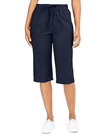 Petite Cotton Skimmer Pants, Created For Macy's