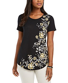 Floral Scoop-Neck Top, Created For Macy's