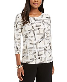 Printed Jacquard Top, Created For Macy's
