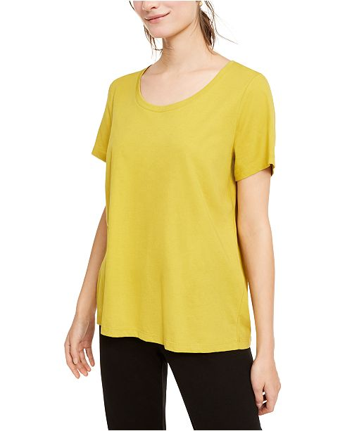 Eileen Fisher Organic Cotton U-Neck T-Shirt