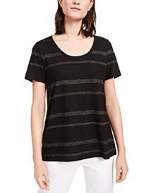 Striped U-Neck T-Shirt